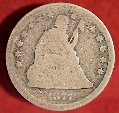 1877-CC Seated Liberty Silver Quarter 25C, CIRC'D CARSON CITY! >> SEE OUR STORE!