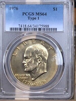 1976-P Type I Eisenhower PCGS MS 64 * Nice and hard to find! *