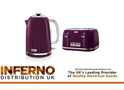 BREVILLE Impressions Kettle and 4 Slice Matching Toaster Set High Gloss Purple