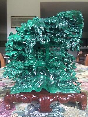 Scultura in malachite Cina