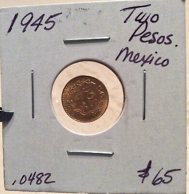 MEXICO GOLD 2 PESO COIN - AGW .0482 oz