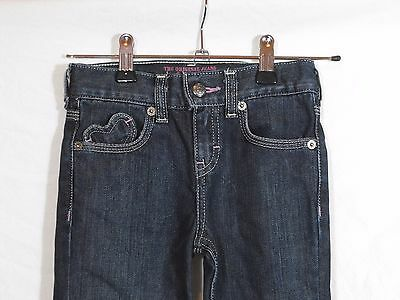 Girl's Levi's Boot Cut Fit Denim Blue Jeans With Heart Pockets Size 5 Girls