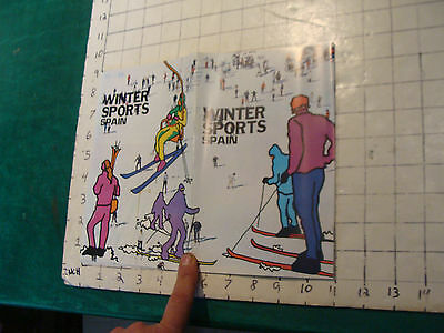 Vintage High Grade SKI brochure: WINTER SPORTS--SPAIN1975---24 DOUBLE SIZE PAGES