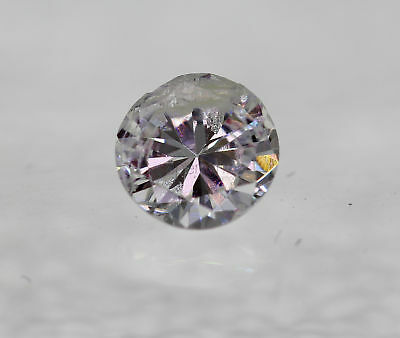 Certified 0.30 Carat D Round Brilliant Enhanced Natural Loose Diamond 4.25mm