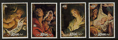 Niue 564-8 MNH Christmas, Art, Paintings, Angels, Madonna, Rubens