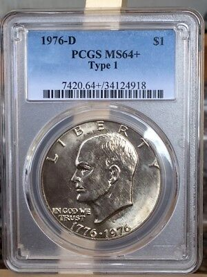 1976-D PlUS Type I Eisenhower PCGS MS 64 PLUS * Nice and hard to find! *