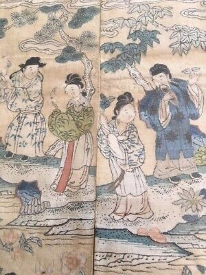 Antique Chinese Fabric Panel