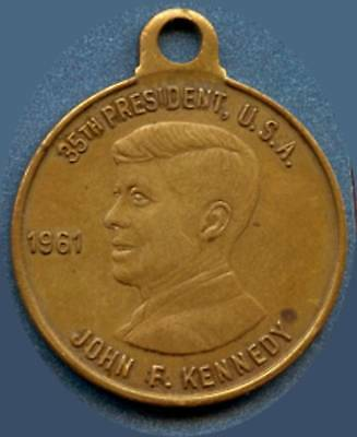 JFK (35th President) 1961 Pendant With White House (9.1 Grams 29mm x 34mm)