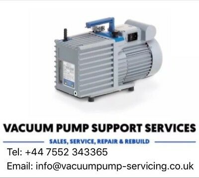 Vacuum Pump- Vacuubrand RE 6w- SERVICED-WARRANTY- Tested@ 7.5x10-2 Mbar-Edwards