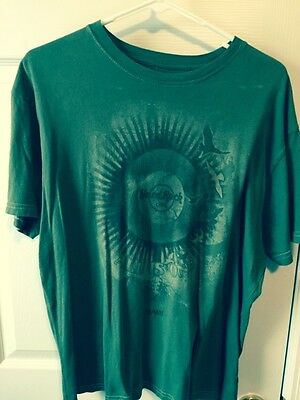 Hard Rock Cafe Maui Green Graphic Tee Size L