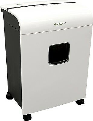 GoECOlife GMW121P Microcut Shredder - 12 Sheets - Ultra Quiet, Shinny White