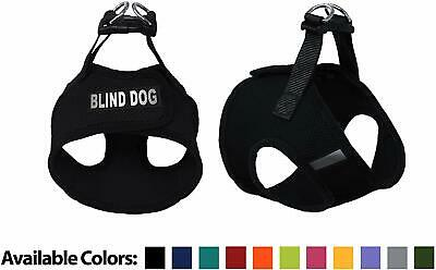 Blind Dog Mesh Easy Step-In Padded Soft Puppy Pet Dog Harness Custom Patch
