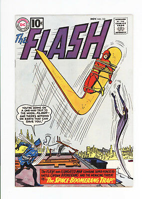The FLASH #124 - UNRESTORED GORGEOUS HIGH GRADE NM 9.2 - CAPT BOOMERANG - 1961