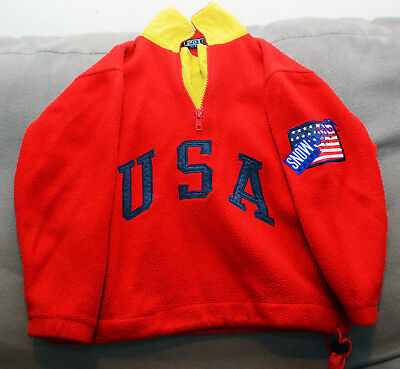 Ralph Lauren Polo Snow Beach Stadium 1992 1993 Cookie Suicide Kids Fleece