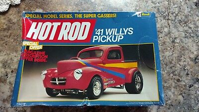 Revell 1/25 Hot Rod '41 Willys Pickup Missing Decals.
