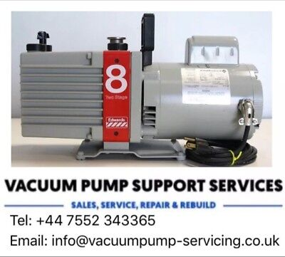 Vacuum Pump- Edwards E2M8- 10m3/hr -230v- SERVICED- WARRANTY- FREE DELIVERY-£425