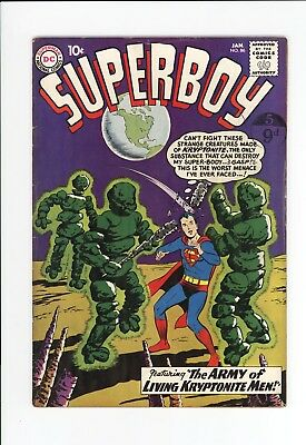 Superboy #86 - Fantastic Cover - Early Legion Of Super-Heroes - 1961
