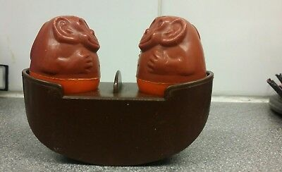 Genuine airfix weeble seesaw and 2 monkeys