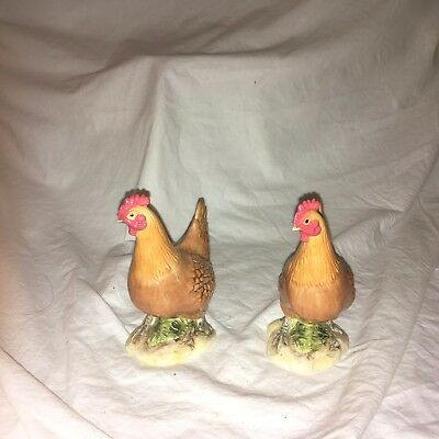 John Beswick Roosters Hand Painted