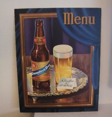 Griesedieck Brothers Menu 1950's Good Condition Great To Frame