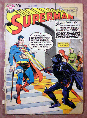 SUPERMAN #124 (Sept. 1958) Fair/Poor condition reading copy