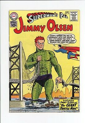 Superman's Pal Jimmy Olsen #53  High Grade Vf+ 8.5 - Giant Turtle Man! - 1961