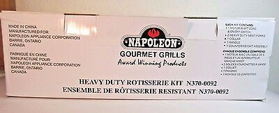 Napoleon Gourmet Grills Heavy Duty Electric Rotisserie Kit N370-0092 NEW IN BOX