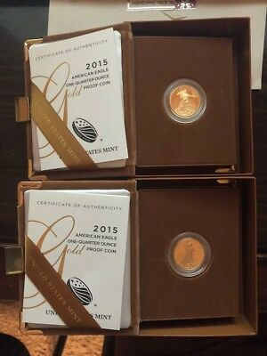 2015 W American Gold Eagle $10 Proof Coin (2 coins)