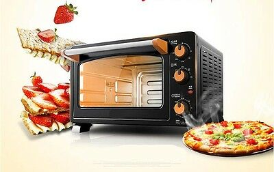 25L Home Commercial Black Multi-function Baking Tool Benchtop Electric Oven #
