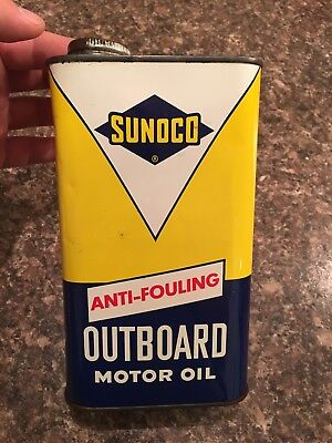 Clean Sunoco Outboard Oil Can