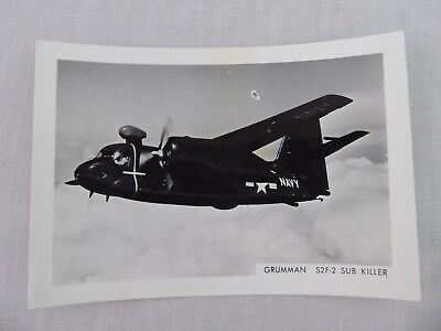 Vintage B&W Photo GRUMMAN S2F-2 SUB KILLER