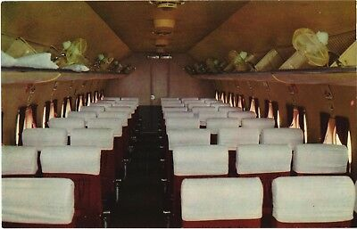 Japan Air Lines JAL Douglas DC-4 cabin airline issue. Aviation Airplane Postcard