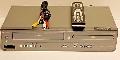 Magnavox DVD player and VCR (VHS) combo CMWD2206, W/Replacement Remote.RCA Cable
