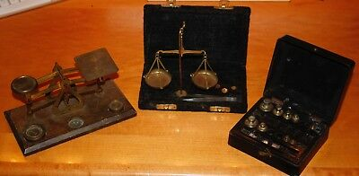 BRASS LETTER & POSTAL SCALE,  Jewelers Scale PLUS Brass weights.
