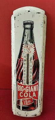 RARE Vintage Big Giant Cola Thermometer Sign 1953