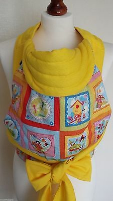 Mei Tai Baby Carrier / Sling/ Reversible/ Spring Gallery With Yellow/ Ready Made