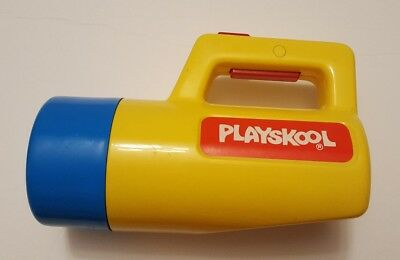 Vintage Playskool Flashlight 1988 w/ Red Green White Filters Tested Working