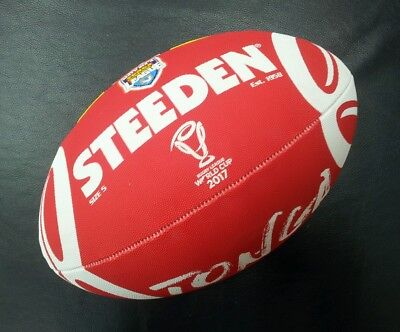 Steeden Tonga Rugby League World Cup 2017 Full Size 5 Supporter Ball NRL *NEW*