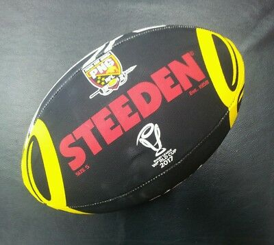 Steeden Papua New Guinea PNG Rugby League World Cup 2017 Supporter Ball NRL *NEW