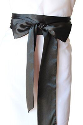 SASH Bridal Satin Sash Black Belt