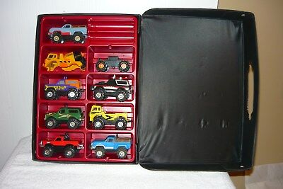 VINTAGE 1980's SCHAPER STOMPER 4x4 TRUCKS COLLECTION WITH CASE Lot Of 8