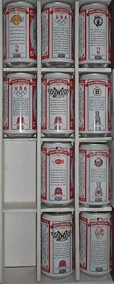 Budweiser Centurys Greatest Teams set of 10 Beer Cans for Mancave and collection