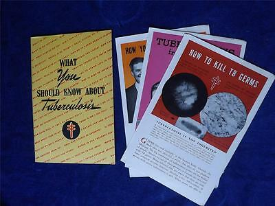 What You Should Know About Tuberculosis Information Booklet Flyers 1943 Disease