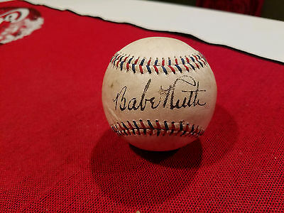Babe Ruth Home Run Special Signed Authgraphed Baseball