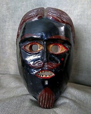 Mexican Dance Mask. Juanegro Or Cuanegro Mask. Mexican Folk Art.