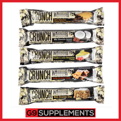 Warrior CRUNCH Low Carb Protein Bars, Pack with 20 Grams of Protein Per Bar