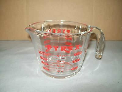 Vintage Pyrex Measuring Cup / Made In Usa / One Cup / Open Handle