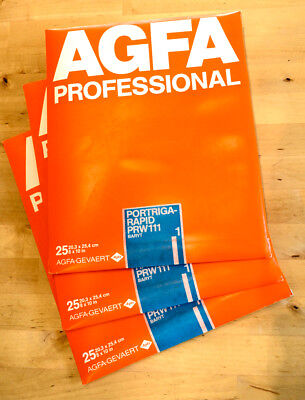 3 packs of Agfa Portriga-Rapid PRK 111 (glossy) #1, 8X10, 25 ea. total 75 sheets