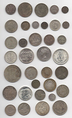 Premium Lot Of World Wide Silver Coins #17, 9.5 Troy Ounces