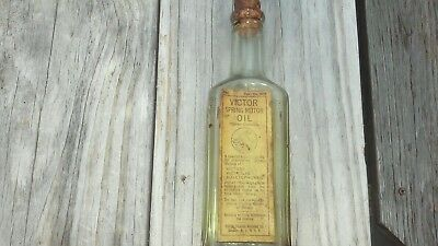 Victor Spring Motor Oil Bottle For Victors Victrolas & Auxetophones Phonograph